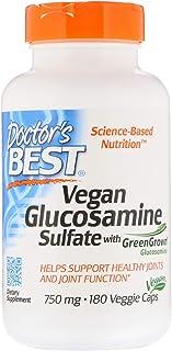 Doctor's Best, Vegan Glucosamine Sulfate with GreenGrown Glucosamine, 750 mg, 180 Veggie Caps