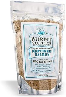 Burnt Sacrifice Northwest Salmon Gourmet BBQ Spice Rub Seasoning, Makes Smoked Salmon (10oz Bag Makes 12 Pounds) Fish Chicken Pork Turkey