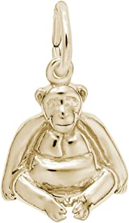 10k Yellow Gold Monkey Charm, Charms for Bracelets and Necklaces