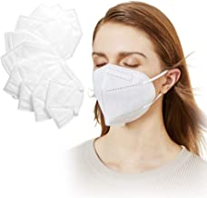 Facial Protection Filtration Pollen and Haze-proof, Adjustable Headgear Nose wire Full Face Protection Masks, 10 packs