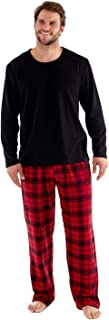 Pijama de forro polar térmico para hombre, con diseño a cuadros