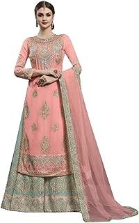Ready to wear Real georgette with heavy embroidery & handwork Straight Salwar Kameez Palazzo Suit Punjabi Muslim Dupatta 8612
