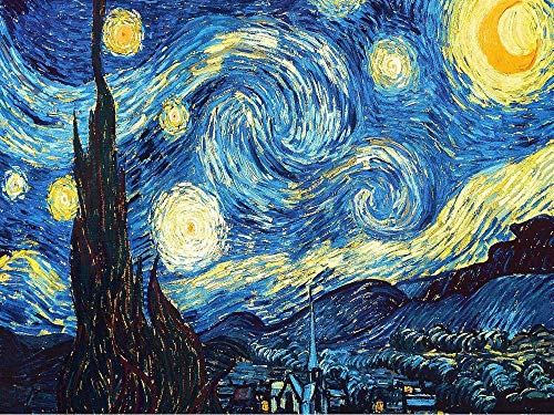 Zimal New DIY 5D Full Diamond Painting Embroidery Van Gogh Starry Night Cross Stitch Kits Abstract Oil Painting Resin Craft Home Decor 11.8 X 15.8 Inch
