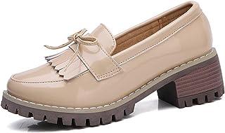 WUIWUIYU - Zapatos de ciudad para mujer, con lazo