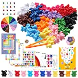 Zalmoxe Rainbow Counting Bears with Activity Cards, Pre-School Math Learning Games, Addition, Subtraction, Multiplication, Fractions, Odd and Even, Math Manipulatives, Set of 132, Age 5+(12 Colors)