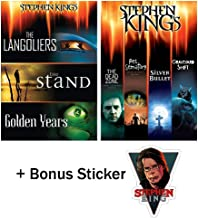 Stephen King: 7 Movie DVD Bundle (Langoliers / Stand / Golden Years / Dead Zone / Pet Sematary / Silver Bullet / Graveyard Shift) with Bonus Sticker
