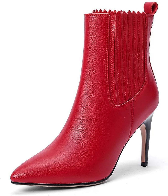 AdeeSu SXE05123, Seali con Zeppa Donna, Rosso (rosso), 35