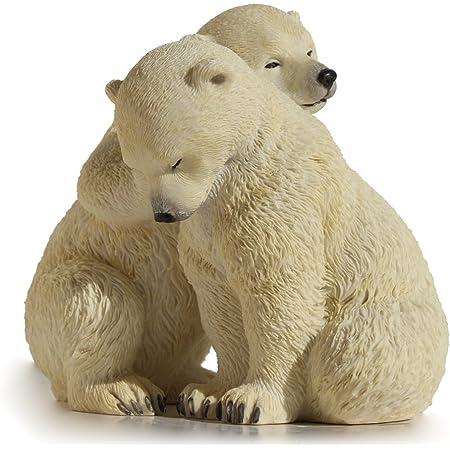 63537 Bullyland Polar Bear Figurine Wild Animals 74x67x150mm