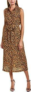 Donna Morgan womens Sleeveless Bubble Crepe Shirt Dress Dress