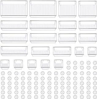 Evance Organisateur Maquillage Lot de 22, Plateaux Boîte de Rangement pour tiroir Cosmétiques Plastique Boîte Stockage, Ra...