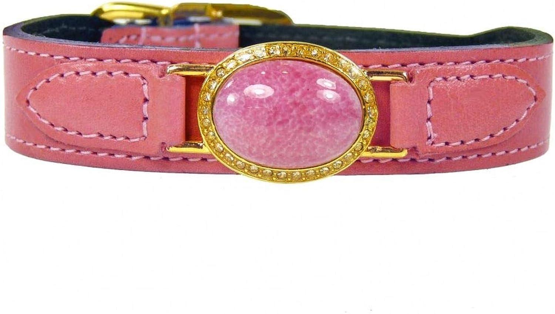 Hartman & pink 307 Estate Dog Collar, 8 to 10Inch, Petal Pink