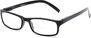 Readers.com Reading Glasses: The Vancouver Bifocal Reader, Plastic Rectangle Style for Men and Women