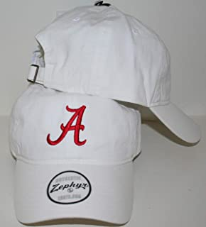 CampusHats University of Alabama Crimson Tide Top White Scholarship Relaxed Cotton Unstructured Adult Mens/Womens/Youth Adjustable Baseball Hat/Cap