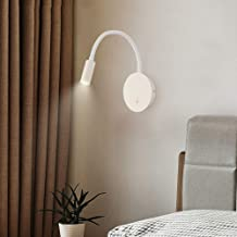 Wall Lamp - Nordic Creative Wall Lamp, Modern Minimalist Style, Aluminum Paint Lampshade with Wrought Iron Paint Base, Whi...