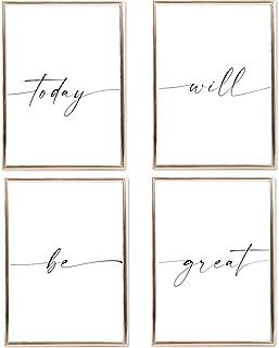 SIMPLY SIMON Juego de pósteres con frases – Elegante decoración moderna con citas – imágenes en blanco y negro con impresi...