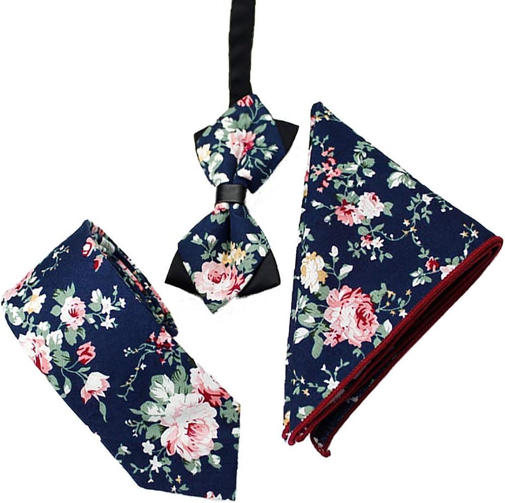 Men Necktie Vintage Floral Pattern Classic Bow Tie Suit Accessory