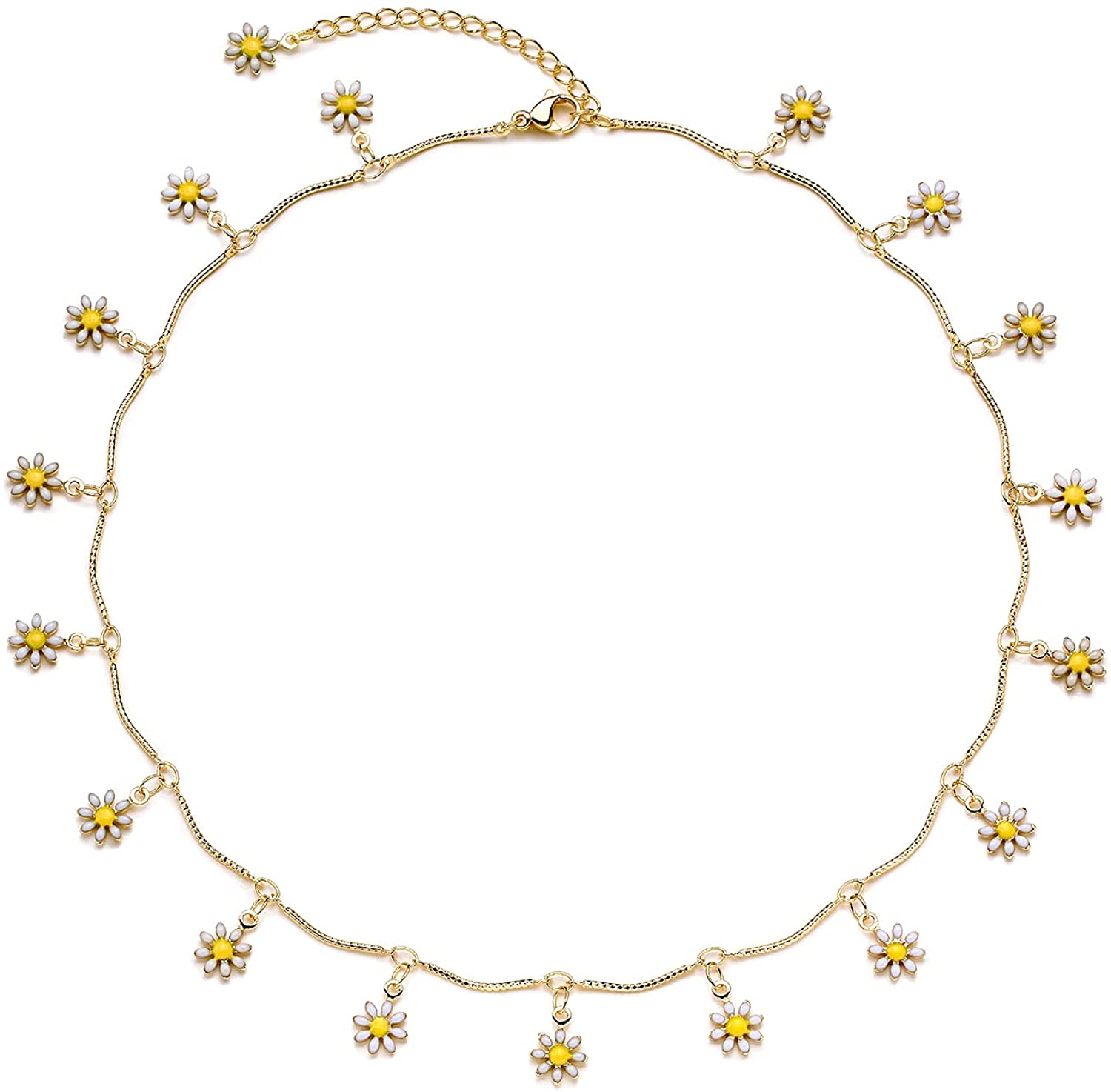 Valloey Rover Choker Necklace for Women 14k Gold Plated Dainty Rope Short Chain Necklace