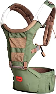 LuvLap Royal Baby Hip Seat Carrier with 4 Carry Positions, for 4 to 24 Months, Max Weight Up to 15 Kgs (Green)