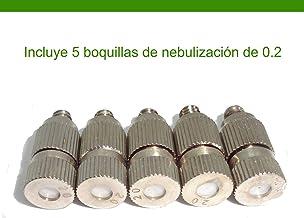 brumicold Spain Pack de 5 boquillas con Deflector cerámico para nebulización en Alta presión de 0.2 (20-120 Bar)
