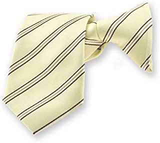 "TieMart Boys' Vanilla Melvin Stripe Clip-On Tie, 14"" Length"