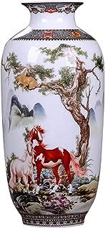 ECYC Chinese Ceramics Vase Handmade Fine Smooth Surface Decorative Animal Horses Vases, 10