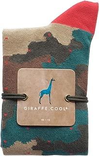 Giraffe Cool Calcetín para Hombre de Color camuflada Puntos Rojos