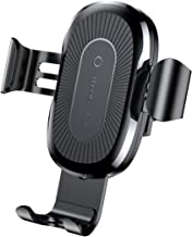 Baseus Wireless Car Charger Mount, Auto Clamping 10W Qi Fast Charging Phone Holder Gravity Sensor, Air Vent Cell Phone Holder for iPhone Xs Max/Xr/Xs/X/8 Plus/8, Samsung Galaxy S10/S10+/S10e/S9/S9+