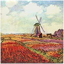 CafePress - Tulips of Holland by Monet Tile Coaster - Tile Coaster, Drink Coaster, Small Trivet