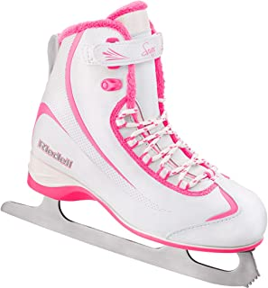 Riedell 615 Soar / Kids Beginner/Soft Figure Ice Skates / Color: White and Pink / Size: 10