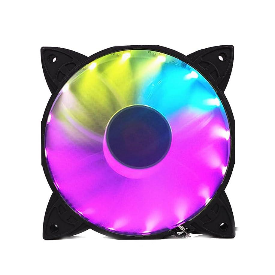 NYWENY Desktop Computer Chassis Fan 120mm RGB Fan Colorful Cooler Fan Stand Case Fan Heatsink Game Player Heatsink Holder Mute Premium