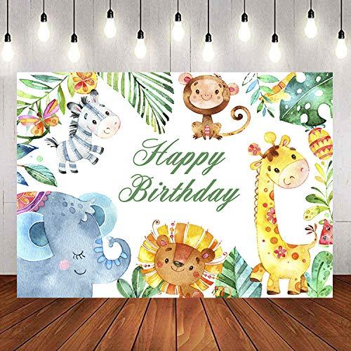 1.5 * 2m Bosco Baby Shower Sfondo Forest Zoo Animale Compleanno Fotografia Sfondo Safari Animali Selvatici Compleanno Neonato Decorazioni per Feste Photo Studio Puntelli