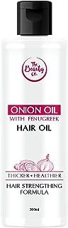 The Beauty Co. Onion & Fenugreek Oil for Hair Growth, 200ml | Onion Oil | Fenugreek | Aloevera | Almond Oil | Sunflower Oi...