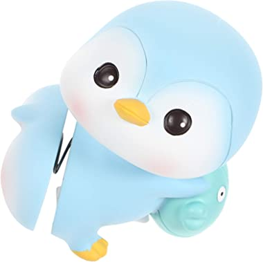 Toyvian Shaking Hip Toy Animal Penguin Dancing Toy Figure Doll Car Dashboard Ornaments Cake Decoration
