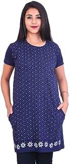 Long T Shirts for Women Blue