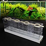 WUPYI Aquarium External Filter Fish Tank External Filter Box Aquarium Filter Fish Tank Upper Trickle Box Filters System 12 Box,Transparent