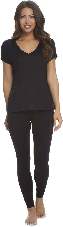 Barefoot Dreams Malibu Collection Women's Modal Boxy VNeck TShirt, Loose Fit Casual Shirt