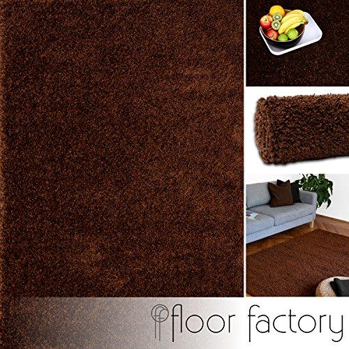 Tappeto Moderno Colors Marrone 120x170cm - Tappeto Shaggy Pelo Lungo Super Economico