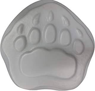 Bear Paw Footprint Stepping Stone Concrete or Plaster Mold 1184