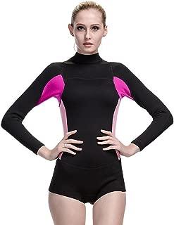 Neoprene Wetsuit Women 2MM Surfing Wetsuits One Piece Swimming Snorkeling Diving Wet Suit Long Sleeve