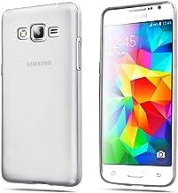 ELECTRÓNICA REY Funda Carcasa Gel Transparente para Samsung Galaxy Grand Prime Ultra Fina 0,33mm, Silicona TPU de Alta Resistencia y Flexibilidad