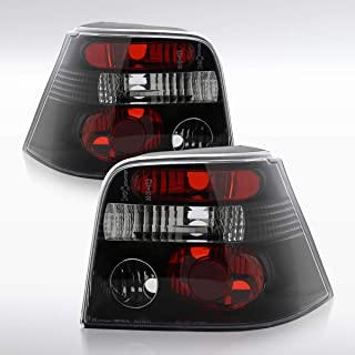 Autozensation For Volkswagen Golf GTI MK4 Euro Black Altezza Rear Tail Brake Lights Pair