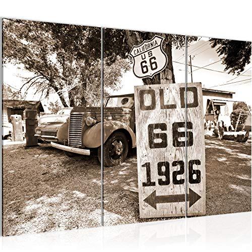Tabla decoración de la pared vieja del coche - 120 x 80 cm Vista de impresión en lienzo Salón Apartamento - listo para colgar - 609831b