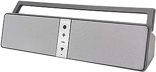 HUATINGRHBS Intelligent Bluetooth Speaker,Mini Wireless Waterproof Speaker with Enhanced Bass TF Card Slot AUX Input Radio FM for Phone/Laptops, Speaker Work Portable, Gray