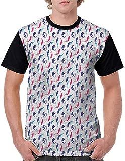 BlountDecor Printed T-Shirt,Orient Spirituality Symbol Fashion Personality Customization