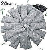 24 Packungen Bambuskohle Luftreinigungsbeutel Natürliche Luftreinigungsbeutel für Schuhe...
