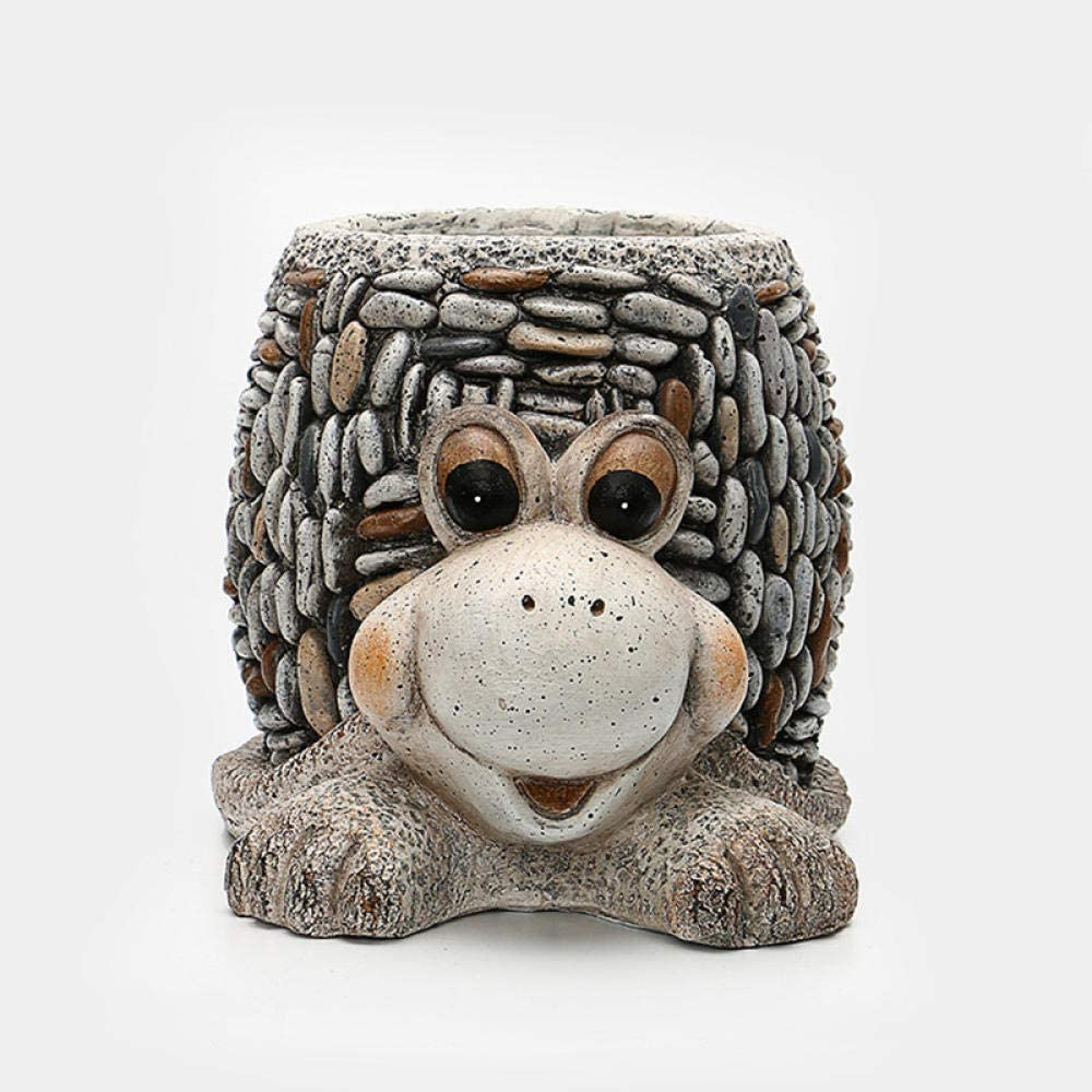 Statue Sculpture Appreciation Stone Max 87% OFF Snail Res Creative Ranking TOP18 Flowerpot