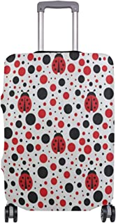 Suitcase Cover Cartoon Ladybug Polka Dots Luggage Cover Travel Case Bag Protector for Kid Girls