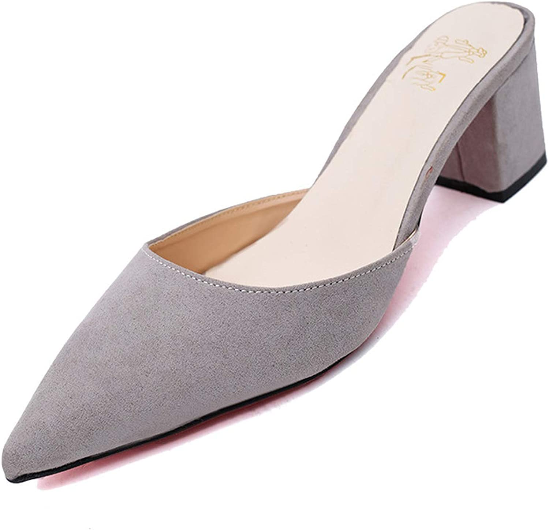 GEKX High Heel Slippers Women shoes Woman Pointed Toe Ladies Female Slides Platform Slippers Fashion Flip Flops