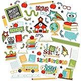 Paper Die Cuts - Back to School - Over 60 Cardstock Scrapbook Die Cuts - by Miss Kate Cuttables