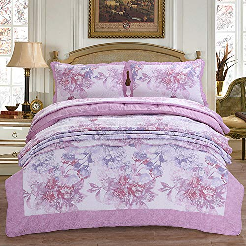 Check Out This Quilted Bedspread Double King Size Printed Patchwork Quilt 230 X 250cm Bed Cover Sets...